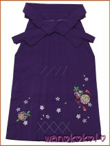 七五三着物 七歳女の子用刺繍入袴★富★紫系/桜・鞠柄
