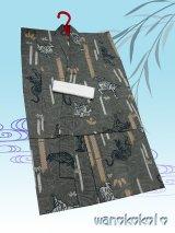子供浴衣男の子用★変り織(紅梅)★【110サイズ】モスグリーン系/虎柄【DBY5-1103】w