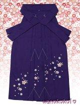 三歳女の子用刺繍入袴★さくら★紫/桜柄 D