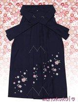 三歳女の子用刺繍入袴★さくら★紺/桜柄 D