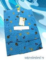 子供浴衣男の子用★変り織(サッカー)★【100サイズ】青色系/とんぼ柄【1004】