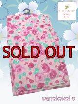 子供浴衣女の子用★変り織★SEIKO MATSUDA★【130サイズ】ピンク系/薔薇・ハート柄【MSK-1309】