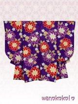 小振袖(二尺袖)身丈が短いタイプ ■夢■ 紫系/八重の花・桜柄 [NSYD-2]
