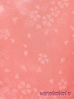 画像2: 七五三着物 正絹三歳用被布コート 花 サーモンピンク系 HANA-Salmonpink