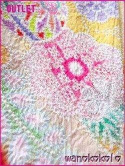 画像3: 訳あり商品 メーカー在庫処分品の為のアウトレット 正絹七歳用総絞り四つ身「ラベンダーA」黄色系本絞友禅/牡丹柄(金駒刺繍入)「yellow」