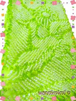 画像2: 七五三 女の子用正絹絞り帯揚げ 黄緑系