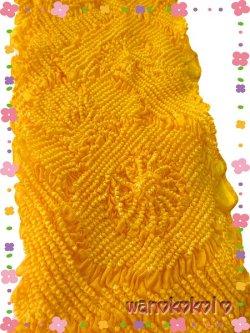 画像2: 七五三 女の子用正絹絞り帯揚げ 山吹色系